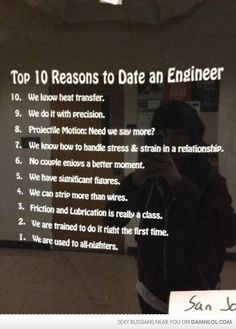I am not an engineer nor am I dating one, but I still appreciate this as nerd humor :)