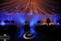 dance floor draping and lighting