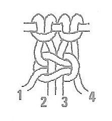 Numbers in a Square Knot
