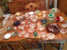 How to Make Inexpensive Flower Plate Garden Art image table of flower art glassware2