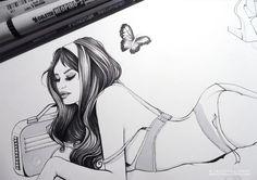 Work In Progress by Cristina Alonso, via Behance #girl #fashion #illustration