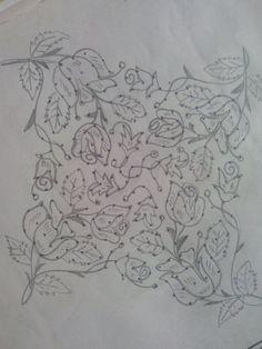 Roses... Small Rangoli Design, Rangoli Kolam Designs, Rangoli Designs With Dots, Kolam Rangoli, Flower Rangoli, Rangoli With Dots, Beautiful Rangoli Designs, Simple Rangoli, Page Borders Design