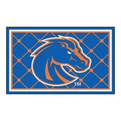 Small,Royal NCAA Boise State Broncos Womens Double Pattern Scroll Favorite Short sleeve T-Shirt