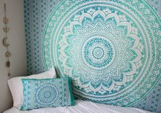 Our Wall Tapestries are made of 100% lightweight cotton with hand-sewn finished edges. Featuring vivid colors and crisp lines, these highly unique and versatile tapestries are durable enough for both indoor and outdoor use.Fill with floral ombre mandala wall tapestry bedding to turn empty walls into eye candy. It's an easy way to add instant comfort and revive your decor
