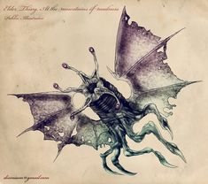 Elder Thing from 'At the mountains of Madness' by Howard Phillips Lovecraft