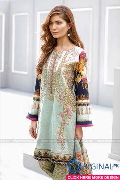 Baroque Martini Marina Lawn 2017 Volume 3 - Original Online Shopping Store Whatsapp: 00923452355358 Website: www. Pakistani Couture, Pakistani Bridal Wear, Pakistani Dress Design, Pakistani Outfits, Indian Outfits, Lovely Dresses, Stylish Dresses, Fashion Dresses, Pakistan Fashion