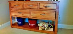 DIY Furniture : DIY Dresser with Open Bottom Shelf