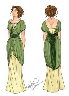 silhouette of the Edwardian Dress, Edwardian Era, Edwardian Fashion, Vintage Dresses, Vintage Outfits, Vintage Wardrobe, Retro Fashion, Vintage Fashion, Ladies Fashion
