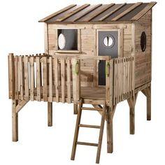 Erstaunlich Kinderspielhaus Stelzenhaus aus Holz mit Rutsche | Gartenrutsche  MB45