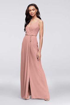6be4f16a4c5d View Spaghetti Strap V Neck Bridesmaid Dress at David's Bridal Pink Bridesmaid  Dresses, Davids Bridal