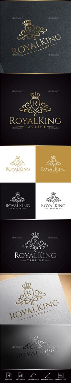 Royal King Logo Template #design Download: http://graphicriver.net/item/royal-king-logo/11374410?ref=ksioks