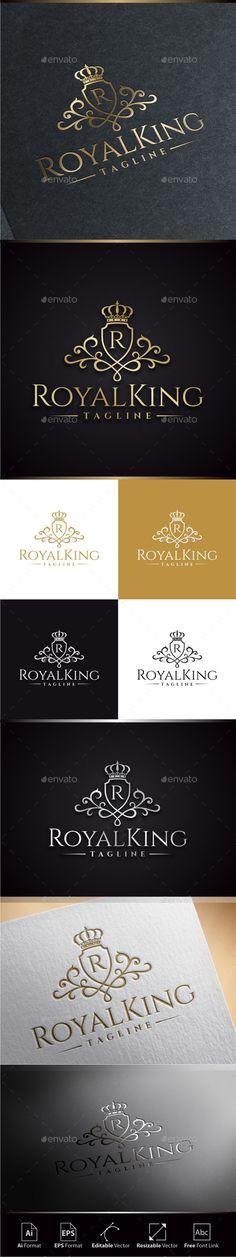 Royal King Logo Template #design Download: http://graphicriver.net/item/royal-king-logo/11374410?ref=ksioks