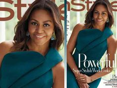 President Obama and first lady Michelle Obama on October 'Essence' magazine. (Photo: Kwaku Alston, 'Essence') Style editors are going to miss Michelle Obama when she's gone — and two . Essence Magazine, Social Injustice, Instyle Magazine, Poses For Photos, Political Views, Michelle Obama, Presidents, Lady, Cover