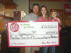 Jennifer won $13,944 playing Big Red Keno in Lincoln!