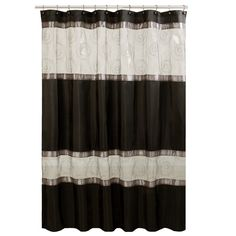 High Quality Marco Fabric Shower Curtain   Black