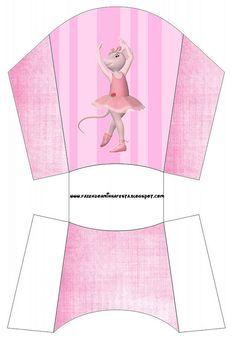 (Large Party Printable Set) http://fazendoanossafesta.com.br/2011/11/angelina-ballerina-kit-completo-com-molduras-para-convites-rotulos-para-guloseimas-lembrancinhas-e-imagens.html