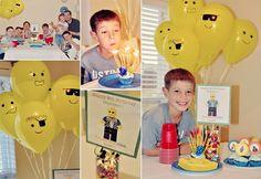 Balloon LEGO heads - perfect!