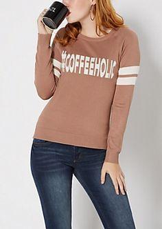 #Coffeeholic Raglan Sweater