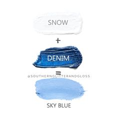 Another Mix It Monday for you, featuring Snow and Denim Shadowsense! Amazing for Blue Eyes- add as liner, an accent, or all over color to make your eyes pop! Senegence Makeup, Glitter Gloss, Pretty Sky, Eye Treatment, Hooded Eyes, Face Skin Care, Blue Eyes, Beauty Hacks, Denim