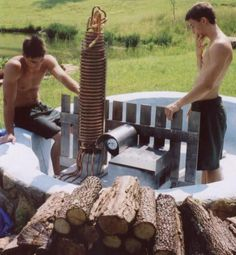 another wood-fired hot tub. this one has an entire report of how they did it.