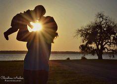 Mother & Son sunburst photo