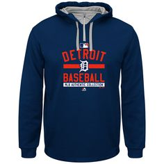 Detroit Tigers 2015 On-Field Team Property Colorblock Hooded Fleece by Majestic Athletic