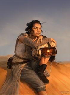 Star Wars Destiny : Patience alternate art by Aurore Folny