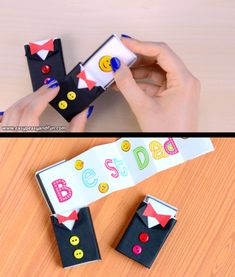 father Be it a special message or a small gift with this Tuxedo Matchbox Craft tutorial you will learn to make the most adorable little gift box ever. As were dressing this matchbox into a tux Diy Crafts Hacks, Diy Crafts For Gifts, Paper Crafts For Kids, Diy Arts And Crafts, Crafts To Do, Creative Crafts, Craft Kids, Kids Diy, Decor Crafts
