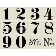 Old World Style No 1 Numbers 12 small stencils Number Stencils, Sign Stencils, Letter Stencils, Number Fonts, Number Art, Etiquette Vintage, Vintage Numbers, Images Vintage, Printable Numbers