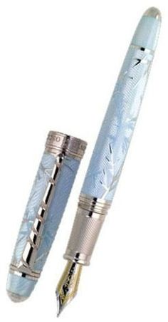 Love fountain pens - should break down and buy one. David Oscarson Winter Fountain Pen Blue: