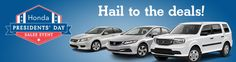 Hail to the Savings this President's Day at Honda of Morgan Hill! Come by to see all the amazing value prices on new and pre-owned inventory!