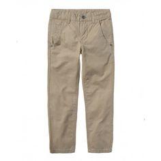 Pantalone, in cotone colorato con 2 tasche a filetto frontali. Vita regolabile all'interno.4DAV550O0 beige