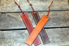 Leather Bookmark by HidesAndStitches on Etsy, $20.00