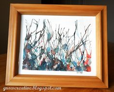 love grow creative.blogspot.com. She shows everyone how to paint. This uses straws!! Hello!! Anybody!!