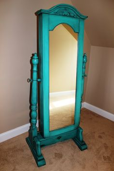 awesome-turquoise-standing-mirror-jewelry-armoire-with-storage-at-corner-placement-overlooking-in-beige-wall-paint-color-design.jpg (1067×1600)