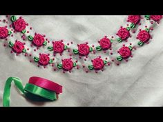 Most up-to-date Photo Ribbon Rose embroidery Thoughts Buttercream bows carnations are generally a straightforward method to generate your current truffles Ribbon Embroidery Tutorial, Hand Embroidery Videos, Embroidery Flowers Pattern, Flower Embroidery Designs, Rose Embroidery, Silk Ribbon Embroidery, Ribbon Work, Ribbon Hair, Hair Bows