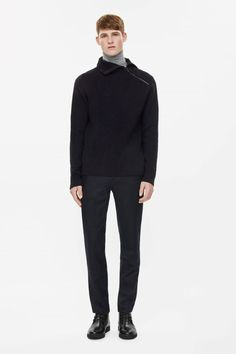 COS | High-neck zip jumper