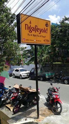 Neon Box Cafe di Balikpapan Kaltim Neon Box, Advertising, Interior, Indoor, Interiors