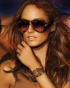 MICHAEL Michael Kors  Marisa Sunglasses & Mid-Size Tribeca Chronograph Watch.