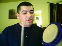 smoke dance- Haudenosaunee. He is using a drum called a water drum.