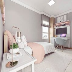 Girls Bedroom Ideas 8 Year Old Small ; Girls Bedroom Ideas 8 Year Old Cute Bedroom Ideas, Girl Bedroom Designs, Room Ideas Bedroom, Small Room Bedroom, Trendy Bedroom, Bedroom Ideas For Small Rooms For Girls, Bedroom Ideas For Teen Girls Small, Diy Bedroom, Bed Room