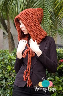 For a last minute gift, try this Chunky Hoodie by Dainty Loops using Wool-Ease Thick & Quick!