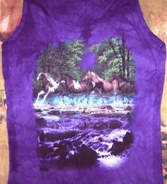 Spring Creek Run Horse Tank Top