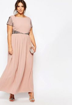 Women Maxi Dresses - Cap Sleeve Maxi Dress With Embellished Waist Detail Maxi Dress With Sleeves, Tulle Dress, Boho Dress, Short Sleeve Dresses, Maxi Dresses, Plus Size Party Dresses, Plus Size Gowns, Black Tie Attire, Wedding Guest Gowns