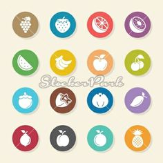 Fruit Icons - Color Circle Series