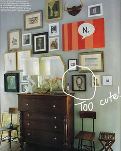 bossy color | Annie Elliott Interior Design | How to create the perfect art wall: 1. What to hang | http://bossycolor.com