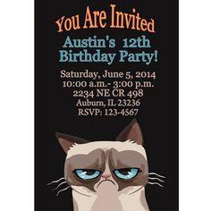 Grumpy Cat Birthday Invitations Free Printable