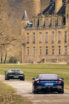 The French Chateau - Ferrari Style~ Ferrari, Bugatti, Carros Audi, Le Croissant, English Country Manor, F12 Berlinetta, Gilles Villeneuve, Château Fort, Billionaire Lifestyle