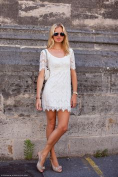 love this lace dress....and Im not even much of a shoe girl but those are too cute!