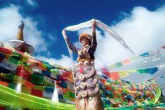 拉萨藏族美女